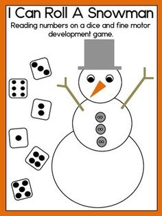 Interactive Snowman Building Game