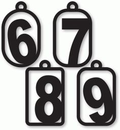 6, 7, 8, 9 numbers clip art