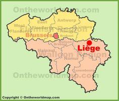 lige location on the belgium map