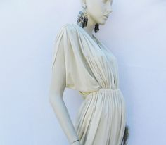 Vintage HALSTON 70's GRECIAN DRAPED Cocktail Gown by Douvintage, $325.00