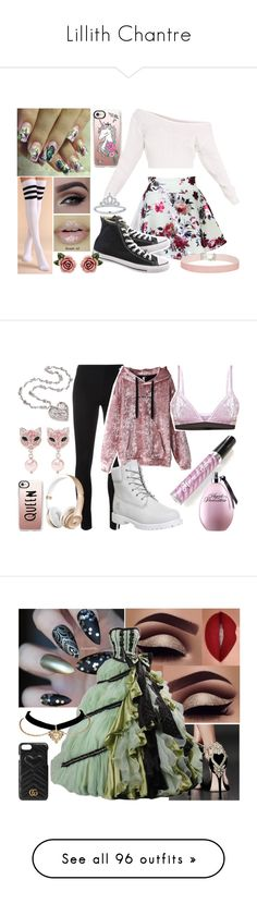 """Lillith Chantre"" by misshemmings96 on Polyvore featuring Casetify, Converse, Dolce&Gabbana, Miss Selfridge, Y-3, Mermaid Salon, Timberland, Miu Miu, Gucci and tops"