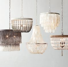 RH TEEN's Amelie Large Pendant:Boho chic illumination. Our lighting pairs strands of cut glass with textural jute for a relaxed, natural style.