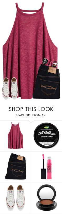 """u guys like this?"" by smileyavenuegirl ❤ liked on Polyvore featuring H&M, Abercrombie & Fitch, Maybelline, Converse and MAC Cosmetics"