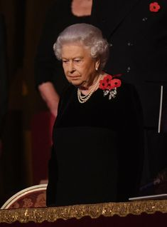 Queen Elizabeth II Photos - Queen Elizabeth II attends the annual Royal Festival of Remembrance to commemorate all those who have lost their lives in conflicts at the Royal Albert Hall on November 11, 2017 in London, England. - Festival of Remembrance