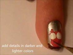 Valentine owl nail art tutorial