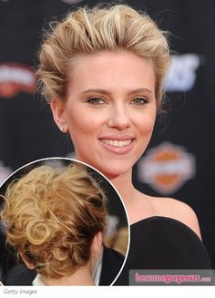 Scarlett Johansson textured updo