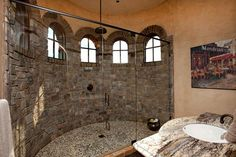 2012 Home Of The Year That is some shower. I just wouldn't want to keep that door clean!