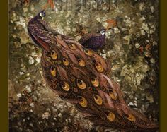 for d  1st payment Original Peacock Oil Painting by willsonart