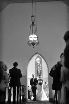 The father and the bride walking down the aisle. Hunter Valley Wedding Photographer - Impact Images