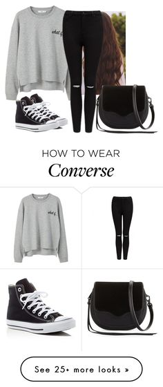 """""""Untitled #4927"""" by hannahmcpherson12 on Polyvore featuring MANGO, Forever New, Converse and Rebecca Minkoff"""