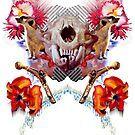 Toothy Feline Skull High Fives Jocular Pundits After Dark by Michael Pehel High Five, After Dark, Skull, Halloween, Poster, Shopping, Design, Give Me 5