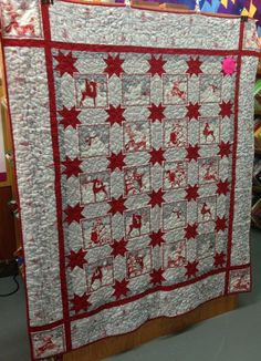 I like this simple, elegant Christmas quilt. Kit's available at Quilter's Apprentice