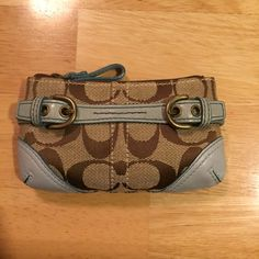 Coach Coin Purse Very gently used, great condition. Leather shows some slight discoloration at the sides. Coach Bags