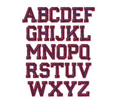 Varsity Font Machine Embroidery DesignsINSTANT by SewChaCha, $5.00