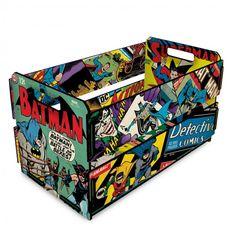 Caixote Quadrinhos DC Comics 35cm | CAIXAS, CESTOS E BAÚS | Decorando