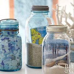 Has your Mason jar collection gotten a bit out of control? We're here to help! Check out these creative ideas for Mason jar decorations, centerpieces, planters, and more.