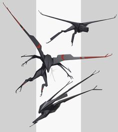 """Draw Creatures """"Steamwraith"""" based on the """"Duplex"""" and an electric railbeast based on the Ce """"Crocodile. Monster Concept Art, Alien Concept Art, Creature Concept Art, Weapon Concept Art, Monster Art, Creature Design, Robot Monster, Monster Design, Robot Design"""