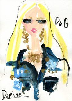 Daphne for Dolce/Gabbana - Artist Miyuki Ohashi