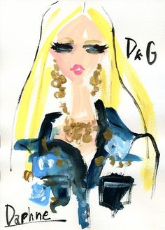 Modeconnect.com - Fashion illustration Daphne for Dolce/Gabbana