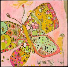 Butterfly High Canvas Print by Jennifer Mercede 14X14 via Etsy