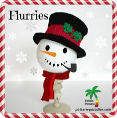 free crochet pattern for snowman inspired hat