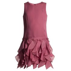 Pink Silk Waterfall Dress - Dresses - Girl | Childrensalon
