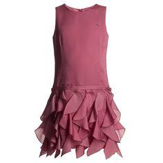Pink Silk Waterfall Dress - Dresses - Girl   Childrensalon