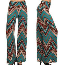 Chevron Printed Palazzo Pants --   http://www.ebay.com/itm/New-Chevron-Printed-Wide-Leg-Fold-Over-High-Waist-Palazzo-Flare-Lounge-Pants-/151491079748?ssPageName=STRK:MESE:IT