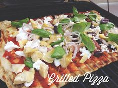 Dinner For Two: Easy Grilled Pizza So simple and great for summer!!