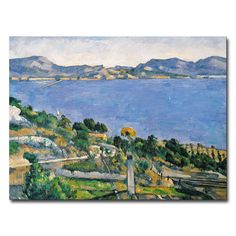 Add a beautiful, colorful flourish to your walls with this gorgeous print of View of the Marseilles Bay, 1878 from artist Paul Cezanne. This canvas art will add sophistication and beauty to any room i