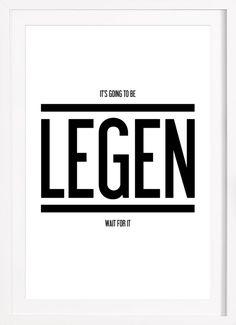 Legendary 1 en Affiche premium encadrée par typealive | JUNIQE