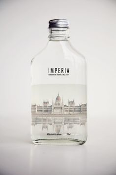 IMPERIA VODKA by Gian Maria Fattore, via Behance #vodka #packaging #bouteille #bottle #glass