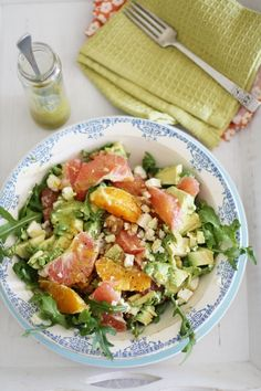 Citrus, Feta and Walnut Salad
