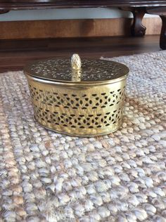 CLEARANCE Oval Open Filigree Brass Box with Lid- Potpourri- Incense- Cricket- Candle- Jewelry- Vintage Decor Boho Modern Style Mid Century by WoodcockPocket on Etsy https://www.etsy.com/listing/262611746/clearance-oval-open-filigree-brass-box