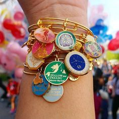 ALEX AND ANI Disney Charm Bangles | Available on disneystore.com and at the theme parks at both Disney Land and Disney World