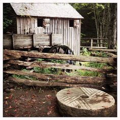 Grist mill at Cades Cove in the Smokys. A must visit place if you love old stuff!