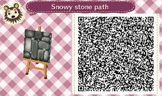 I saw this amazing stone path design, but didn't like the way those green borders made it look on the ground, beside not suiting snowed ground. So I tried to re-create it for snow and grass the way...