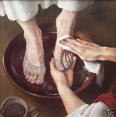 """""""Wash"""" Jesus washing apostles feet"""