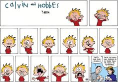 Calvin and Hobbes. Trying to get a good photograph of your children can be more … Calvin and Hobbes. Trying to get a good photograph of your children can be more difficult than it sounds! Calvin And Hobbes Comics, Hobbes And Bacon, John Calvin, Concours Photo, My Calvins, Humor Grafico, School Pictures, Fun Comics, Facial Expressions