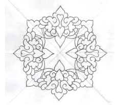 Aunt Martha's European Delights Embroidery Transfer Pattern Book, Over 25 Iron On Patterns - Embroidery Design Guide Border Pattern, Pattern Art, Pattern Design, Intarsia Wood Patterns, Wood Carving Patterns, Mandala Painting, Mandala Art, Embroidery Transfers, Embroidery Patterns