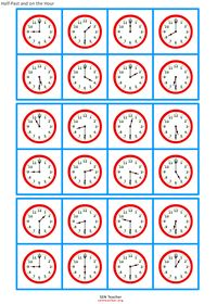 Great FREE resource for math creating ALL types of printables like For math, reading and more. Like this image: Clock Bingo