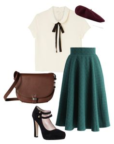 40s inspiration by soltys-dagmara on Polyvore featuring moda, Monki, Chicwish, Kate Spade, ECCO and Gucci