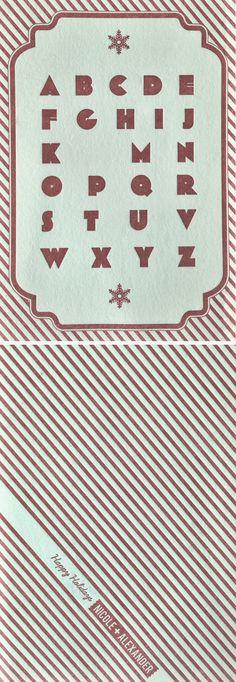"NO ""L"" Letterpressed Christmas card"