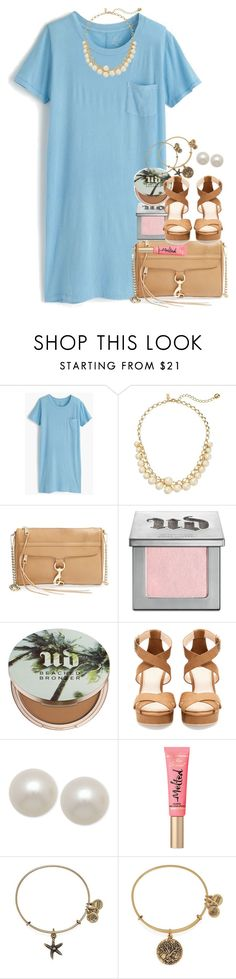 """set a goal that makes u want to jump out of bed in the morning"" by thefashionbyem ❤ liked on Polyvore featuring J.Crew, Kate Spade, Rebecca Minkoff, Urban Decay, Pull&Bear, Honora and Alex and Ani"