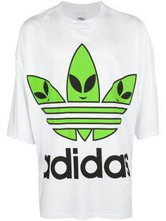 ADIDAS ORIGINALS BY JEREMY SCOTT - oversize alien logo t-shirt 7