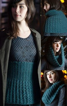 Free knitting pattern for Makiko multi-purpose belly warmer, cowl, hood - Cirilia Rose's versatile garment was inspired by the Japanese belly warmers known as haramaki, that keep vital organs covered to warm the entire body. It has been cleverly designed so it can be layered over your regular clothes to add warmth and style, and also serve as cowl or hood. And it's reversible! XS (S, M, L, 1X, 2X, 3X)