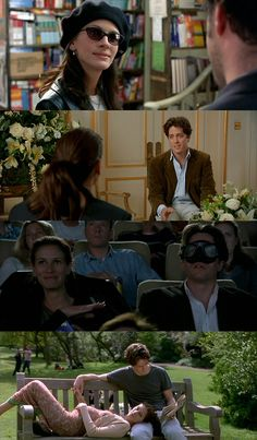 Notting Hill (1999) - starring Julia Roberts as Anna Scott & Hugh Grant as William Thacker Whoopsie Daisies = laughed so hard!