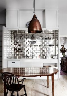 Mirror Tile Backsplash Kitchen | 10 Best Mirrored Tile Backsplash Images On Pinterest Mirrors
