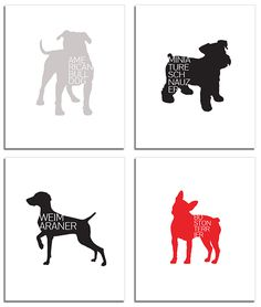 Modern Typographic Dog Breed Posters from Petswag