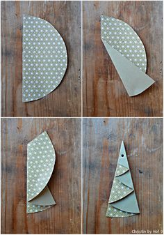 Paper Christmas tree folding, Christmas tree made of semicircle folding Christmas tree . - Paper Christmas tree folding, Christmas tree made of semicircle folding Christmas tree … - How To Make Christmas Tree, Christmas Time, Merry Christmas, Winter Christmas, Christmas Crafts, Christmas Decorations, Christmas Ornaments, Paper Christmas Trees, Christmas Ideas